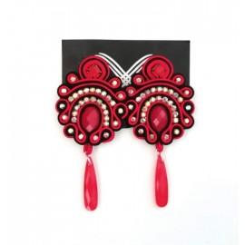 Handgemachte Flamenco Ohringe - UNIKAT - Rot II
