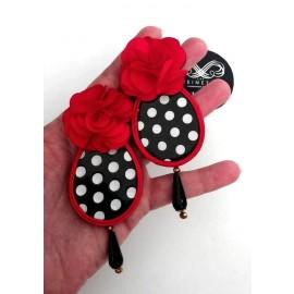 Handgemachte Flamenco Ohringe - UNIKAT - Rot III