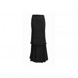 amay Flamenco Rock schwarz aus Viskose und Spitze