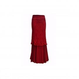 amay Flamenco Rock Rioja rot aus Viskose und Spitze