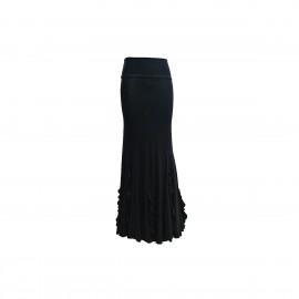amay Flamenco Rock schwarz mit vertikalen Volants