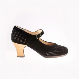 Begoña Cervera Flamenco Shoes Model Pétalo customized
